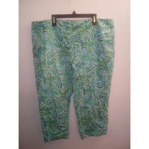 Kim Rogers Floral Size 18 Capri Pants (L)